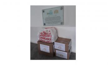 Grupo Voluntariado Diagnocel/Biocore entrega doações para a  Casa Vida.